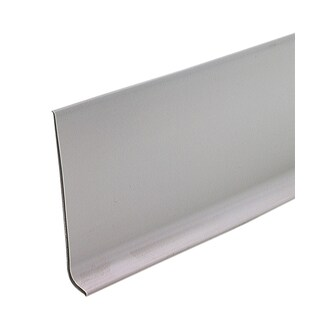 "M-D 73898 4"" X 60' Silver Gray Vinyl Dryback Wall Base"