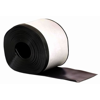 "M-D 93146 4"" X 20' Black Cove Wall Base Vinyl Rolls"