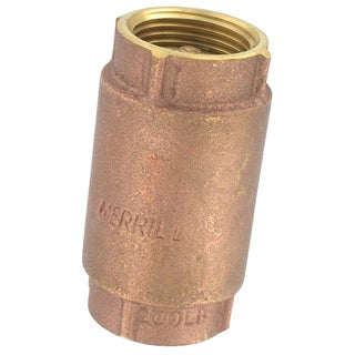 "Flotec TC2502LF 1"" Low Lead Well Pump Brass Check Valve"