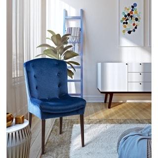 Victor Navy Velvet Birch Chairs (Set of 2)