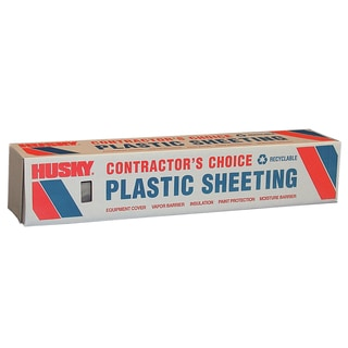 Husky CF0608C 8' X 100' 6 ML Tyco Polyethylene Opaque Plastic Sheeting