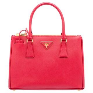 Prada Galleria Medium Red Saffiano Leather Satchel Handbag