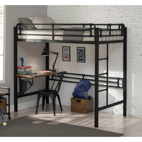 Pipe Loft Twin Bed with Workstation