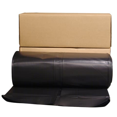 Husky CF0640B 40' X 100' 6 ML Tyco Polyethylene Black Plastic Sheeting