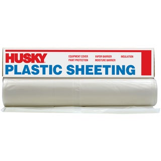 Husky CFHK00712-400C 12' X 400' 0.7 ML Painter Opaque Plastic Sheeting
