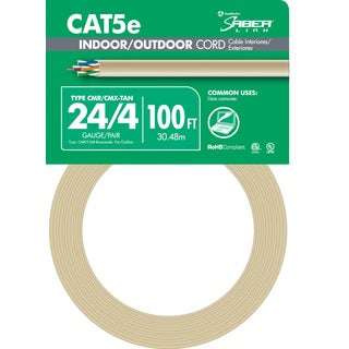 Southwire 56917643 100' 24/4 Tan Indoor & Outdoor Cord