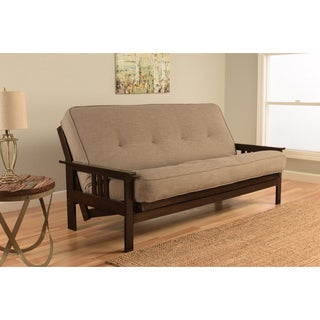 Clay Alder Home DeSoto Espresso Full-size Futon with Linen Mattress