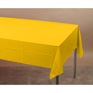 "Creative Converting 710234 54"" X 108"" School Bus Yellow Tablecover"