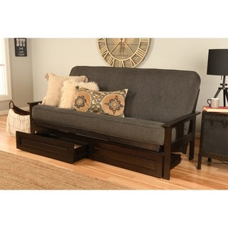 Somette beli mont espresso finish futon set with linen for Beli kitchen set