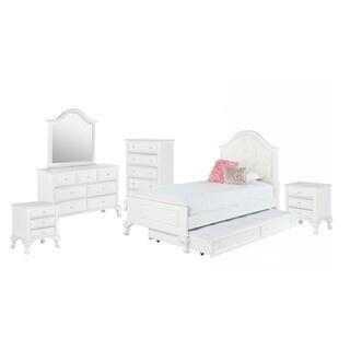 Picket House Furnishings Jenna Twin Panel w/ Trundle 6PC Bedroom Set