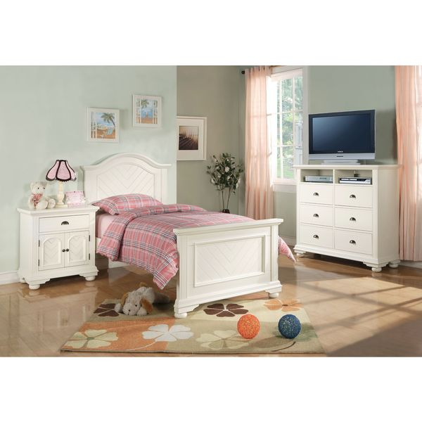 cb5f3aa1274ff Shop Picket House Furnishings Addison White Twin Panel 3PC Bedroom ...