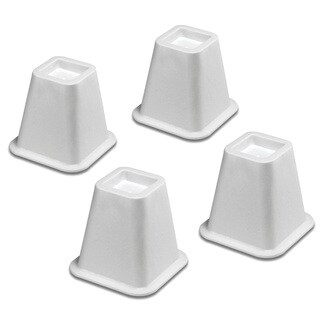 Whitmor 6511-3349-WHT 4-count White Bed Risers
