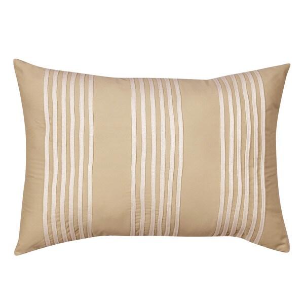 Nostalgia Home Sena Breakfast Taupe Stripe Decorative Pillow