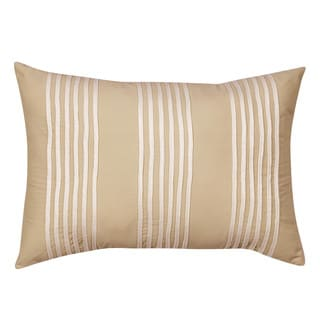 Nostalgia Home Sena Breakfast Taupe Stripe Decorative Pillow