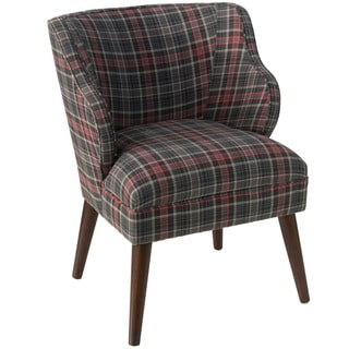 Skyline Furniture Neo Plaid Black Fabric Accent Chair