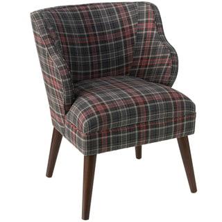 Skyline Furniture Neo Plaid Black Fabric Accent Chair