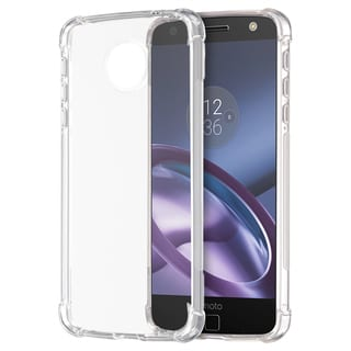 Motorola Moto Z Droid Edition Shockproof Lite Crystal Clear TPU Case