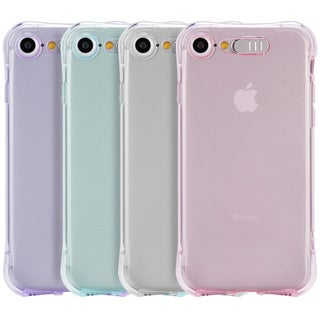 Apple IPhone 7 Pure Light Blue Thermoplastic Polyurethane Shockproof Crystal Case