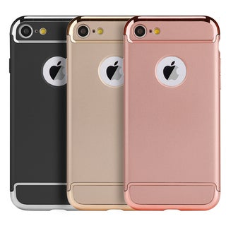 Silver Chrome Frame Apple iPhone 7 Griptech 3-piece Rubberized Protective Case