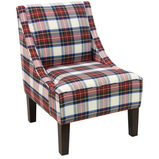 Skyline Furniture Espresso Stewart Dress Multi Slipper Accent Chair