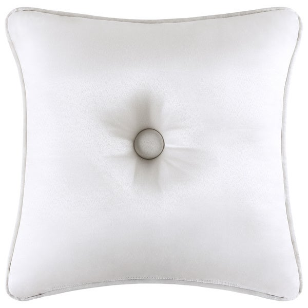 Five Queens Court Mackay Button Tufted 16 Inch Decorative Pillow
