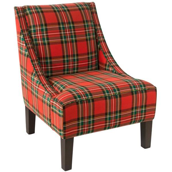 Shop Skyline Furniture Ancient Stewart Red Plaid Slipper ...