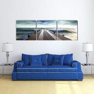 Furinno SENIK 'Bridge' 72-inch x 24-inch 3-Panel MDF-wrapped Photography Triptych Print