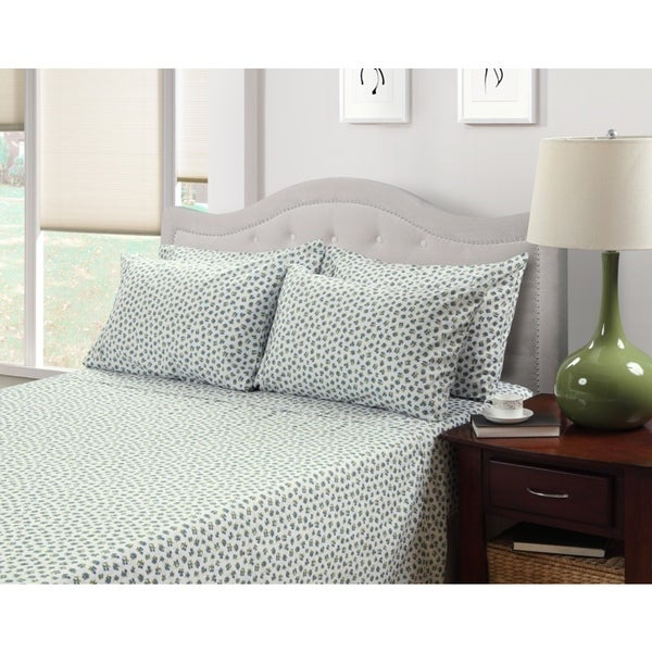 214 WEST EASY CARE PRINTED MULTI FLORAL SHEET SET