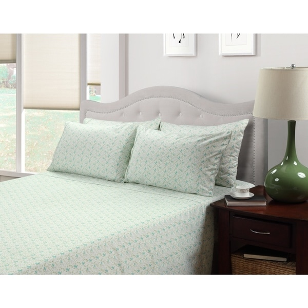 214 West Easy Care Printed Floral Sheet Set