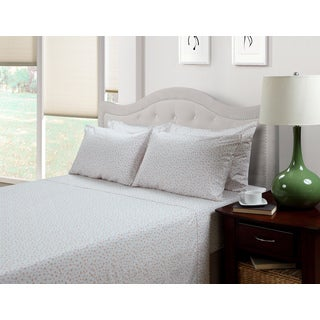 214 West Ditsy Abigail 3-piece Floral 300 Thread Count Cotton Rich Sheet Set