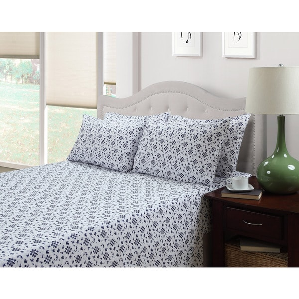 214 West Ditsy Emma 3-piece Floral 300 Thread Count Cotton Rich Sheet Set