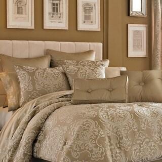Five Queens Court Maureen Tan Damask Polyester 18-inch Decorative Throw Pillow