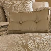 Five Queens Court Maureen Tan Button Tufted Boudoir Decorative Pillow