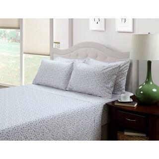 214 West Ditsy Floral Lily Lavender 300 Thread Count Cotton Blend Sheet Set