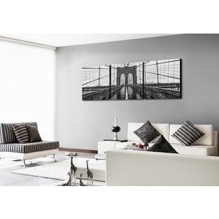Furinno SENIK 'Brooklyn Bridge' MDF 72-inch x 24-inch 3-panel Framed Photography Triptych Print