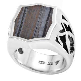 Stephen Webster Men's Tiger Sterling Silver Iron Stone Ring (Option: 9.75)|https://ak1.ostkcdn.com/images/products/12858811/P19621058.jpg?impolicy=medium