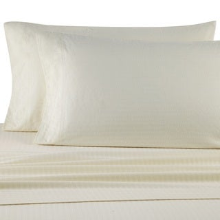 Casual Living Heavyweight Damask Stripe Flannel Sheet Set
