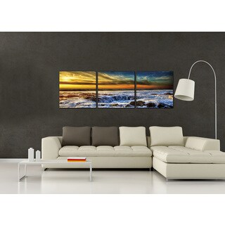Furinno 'Sky and Beach' 3-panel Framed Photography Triptych Print