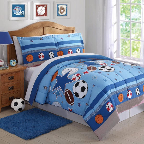 Laura Hart Kids Sports And Stars 3 Piece Comforter Set
