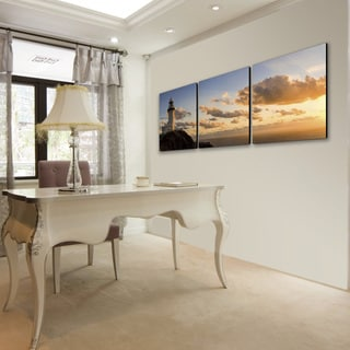 Furinno Senik 'Light House' Multicolored MDF 3-panel Framed Photography Triptych Print