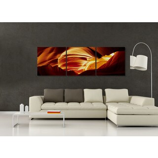 Furinno Senik 'Antelope Caves' MDF 72-inch x 24-inch 3-panel Framed Photography Triptych Print