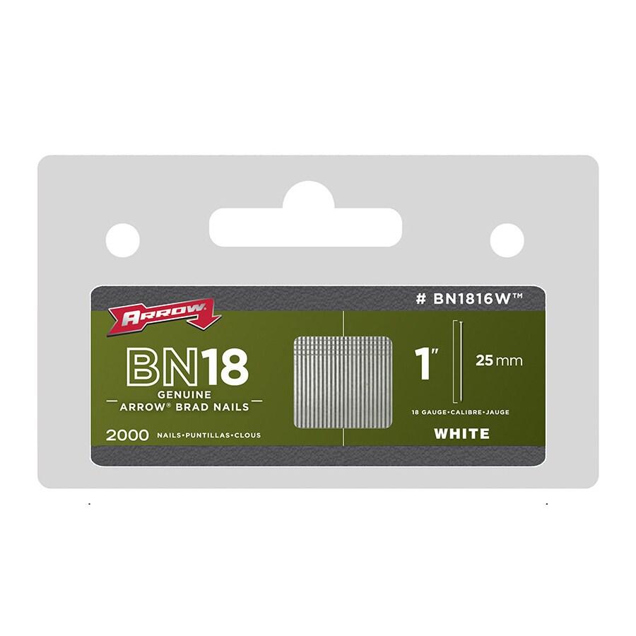 Arrow Fastener BN1816WCS 1 White Nail Brad 2000-ct (Hardware)