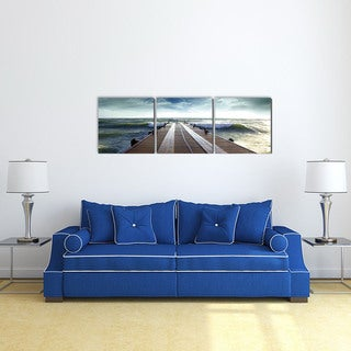 Furinno SENIC Bridge 60-inch x 20-inch 3-panel Canvas on Wood Frame Photograph Wall Art