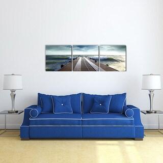Furinno SENIC Bridge 60-inch x 20-inch 3-panel Canvas on Wood Frame Photograph Wall Art