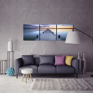 Furinno 'Pier Sunrise' 3-panel Canvas