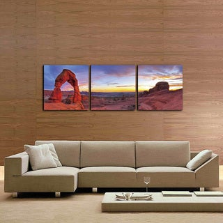 Furinno 'Delicate Arch' 3-panel Canvas
