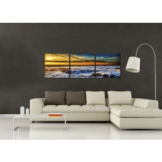 Furinno SENIC 'Sky and Beach' 60-inch x 20-inch 3-panel Wood-framed Canvas Art|https://ak1.ostkcdn.com/images/products/12859114/P19621592.jpg?impolicy=medium