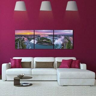 Furinno 'Niagara Falls' 3-panel Canvas