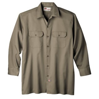 Dickies WL574KH Khaki Men's Long Sleeve Work Shirt