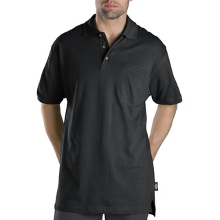 Dickies WS449BK Large Black Short Sleeve Mini Pique Polo Shirt